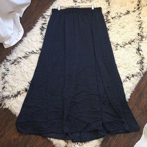 Lane Bryant Maxi Skirt Navy Blue